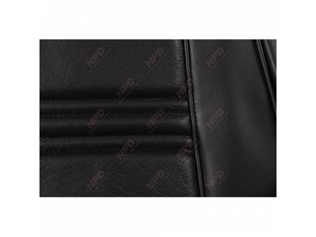 UPHOLSTERY SET Bucket Seat black repro front seat