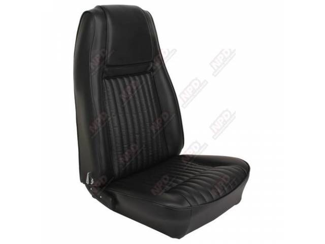 UPHOLSTERY SET Bucket Seat Decor black repro front
