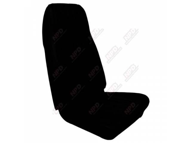 UPHOLSTERY SET Front Bucket Seats Decor black repro