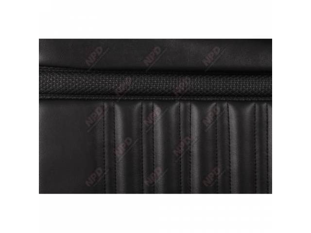 UPHOLSTERY SET Rear Seat black repro rear seat
