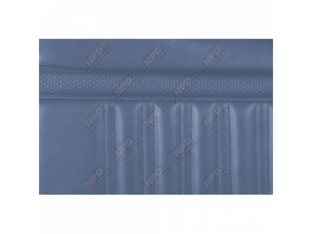 UPHOLSTERY SET Rear Seat blue repro rear seat