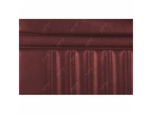 UPHOLSTERY SET Rear Seat red repro rear seat