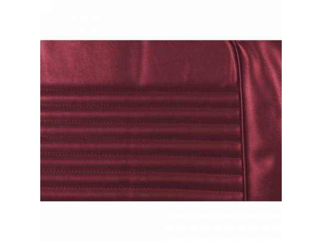 UPHOLSTERY SET Rear Seat dark red repro rear