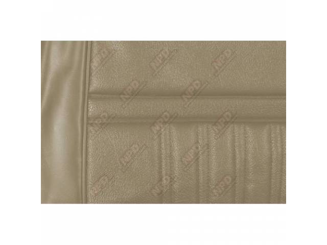 UPHOLSTERY SET Rear Seat Decor parchment repro rear