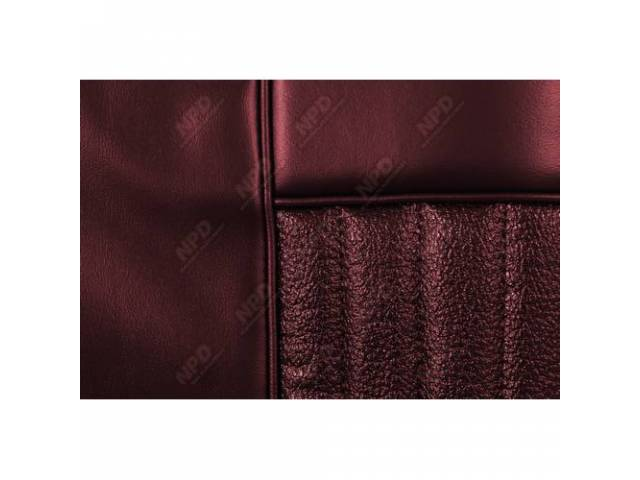 UPHOLSTERY SET Rear Seat Decor dark red repro