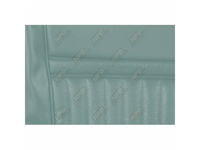 UPHOLSTERY SET Rear Seat Decor light aqua repro