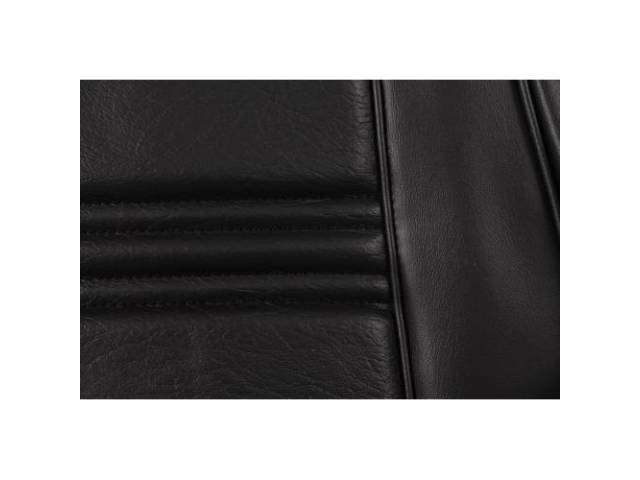 UPHOLSTERY SET Rear Seat black repro rear seat