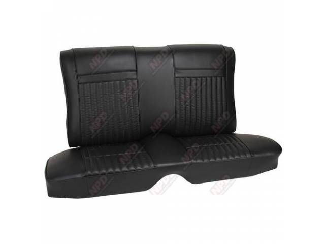 UPHOLSTERY SET Rear Seat Decor black repro rear