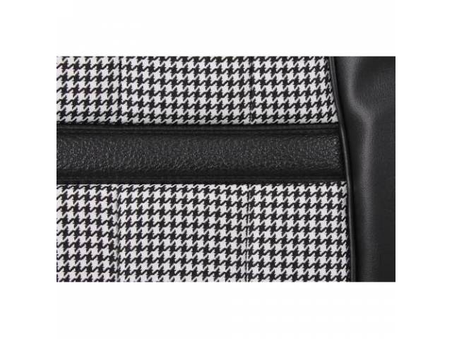 UPHOLSTERY SET Bucket Seat XR-7 Houndstooth black repro