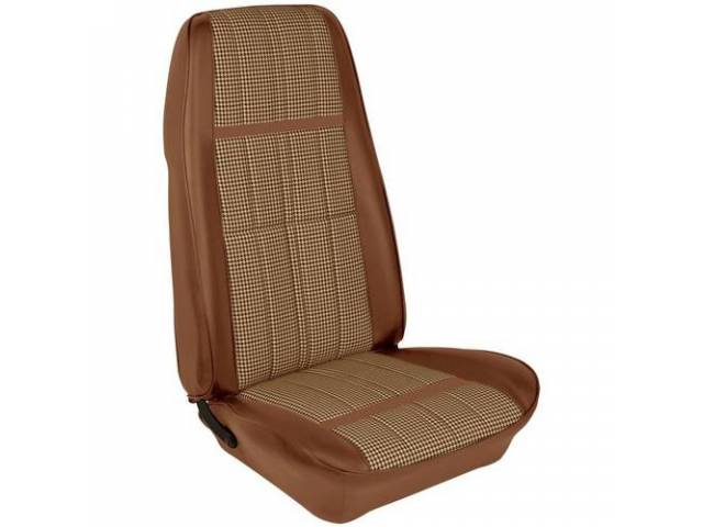 UPHOLSTERY SET Bucket Seat XR-7 Houndstooth ginger repro
