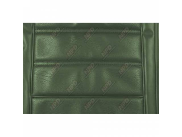 UPHOLSTERY SET Rear Seat medium green repro rear