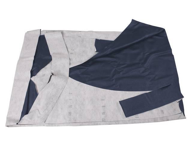 VINYL TOP Dark blue twin heat sealed seams