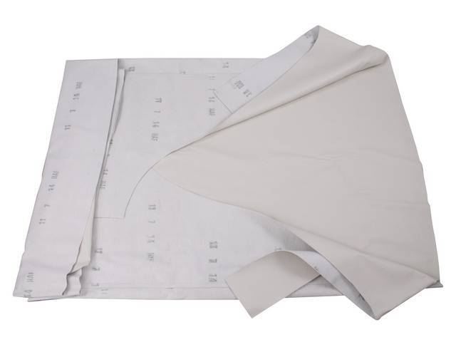 VINYL TOP White twin heat sealed seams Made